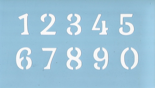 ファインホームのステンシルシート 数字 fh-831Lサイズ