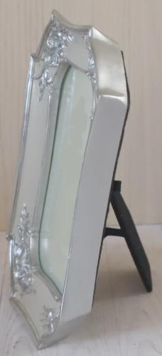 トールペイント エレガントフレーム FF-006 アンティークホワイト・シルバー アンティーク仕上げ
