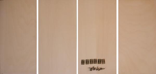 トールペイント用無塗装白木素材 4曲屏風 350 大 cw-1201 丁番ビス付