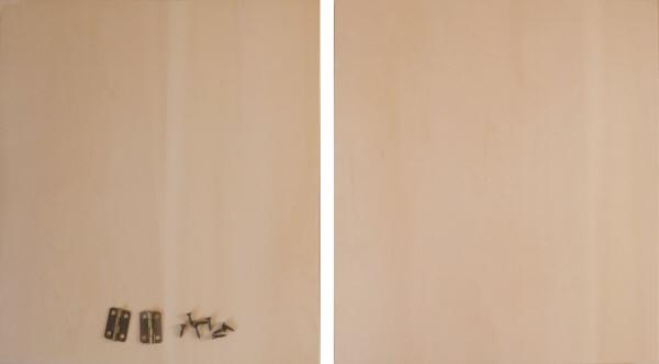 トールペイント用無塗装白木素材 2曲屏風 250 大 cw-1203 丁番ビス付