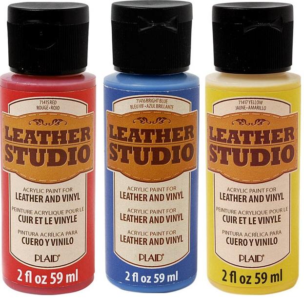 皮用アクリル絵具 ノーマルカラー レザースタジオペイント ブラック  107-1412
