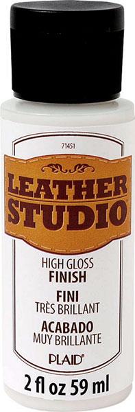 皮用絵具のツヤあり仕上げ剤  レザースタジオ グロス フィニッシュ 107-1451