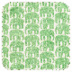 【ポイント30% 在庫限り】ルームマット (カク)ELEFANTTI 67×67cm | フィンレイソン Finlayson