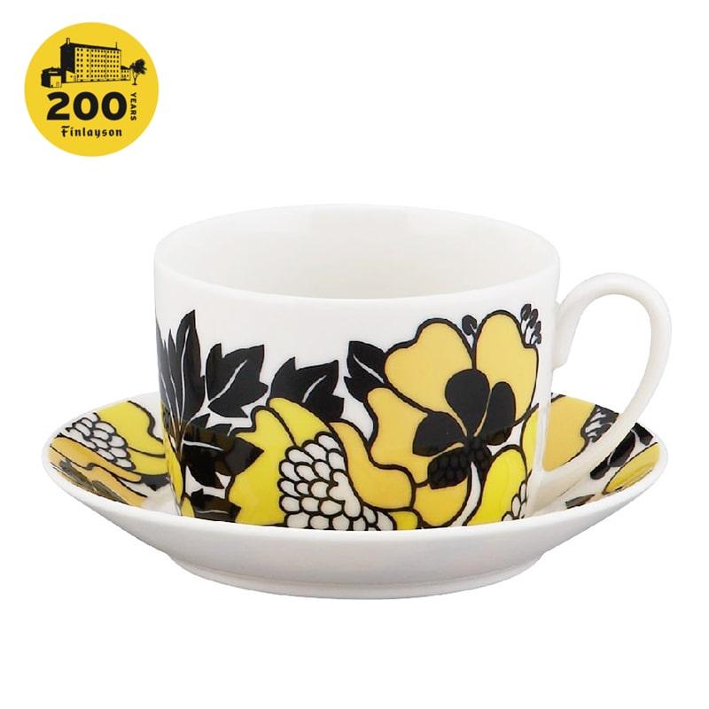 200周年記念デザイン カップ&ソーサー ANNUKKA | フィンレイソン Finlayson