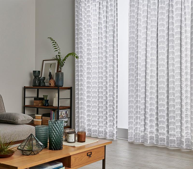 カラーレースカーテン 2枚入 1枚サイズ  100×133cm【受注生産商品:納期2週間〜】 | フィンレイソン Finlayson
