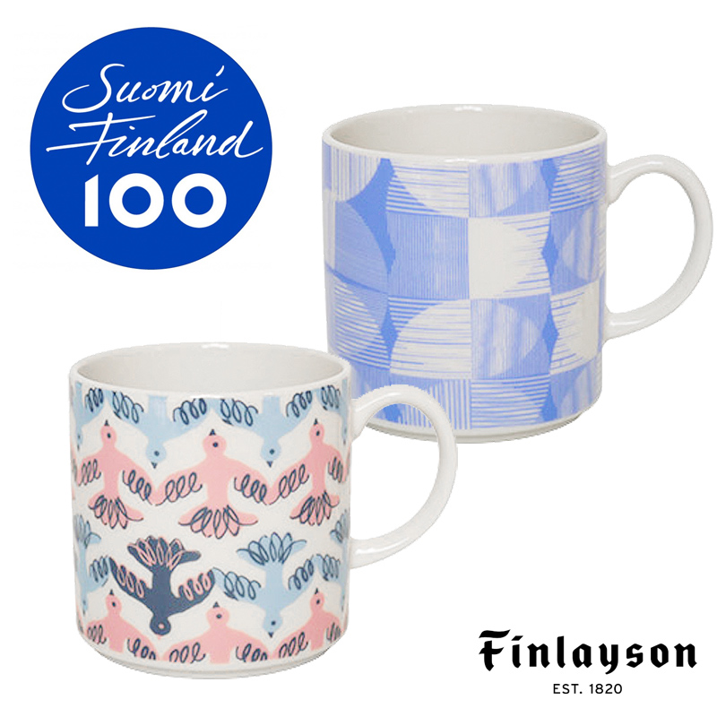 フィンランド独立100周年記念 マグ MUUTTO/HALO   フィンレイソン Finlayson