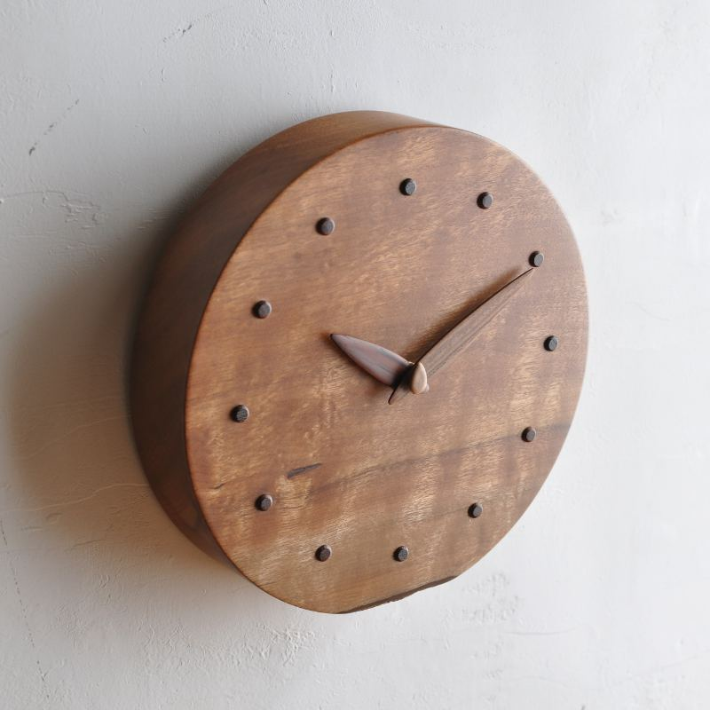 イスノキ時計 一点もの