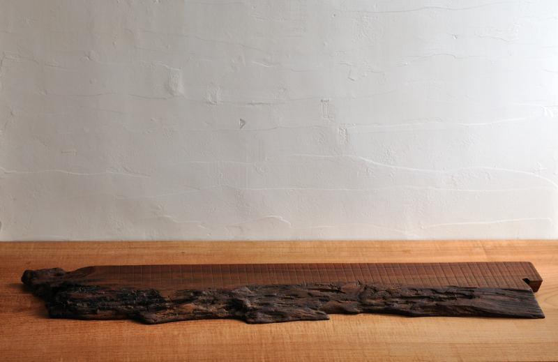 欅(ケヤキ)の自然木 飾り台 一点もの