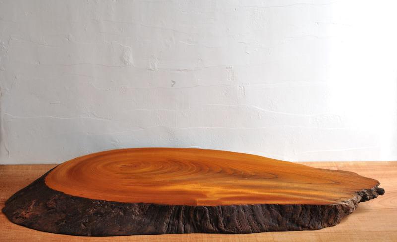 欅(ケヤキ)の輪切り 飾り台 一点もの