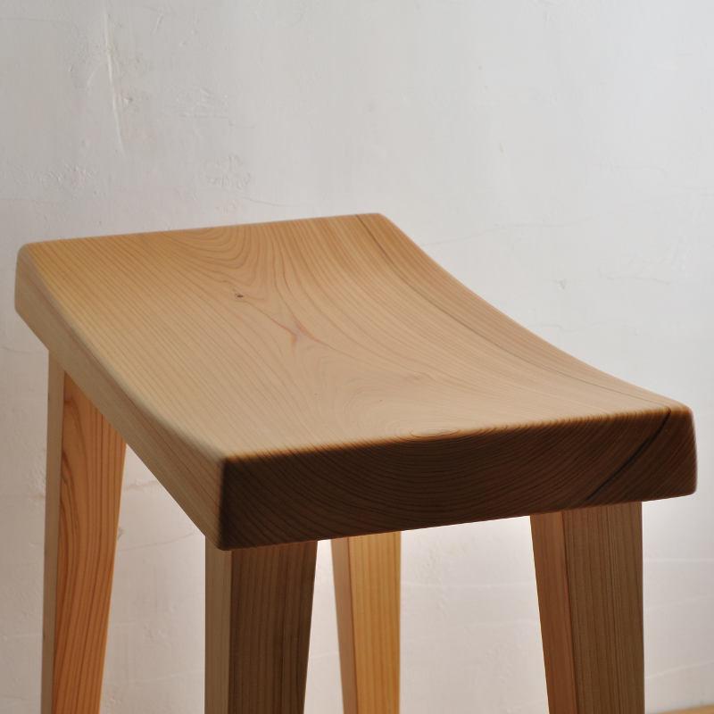 木製スツール ヒノキ