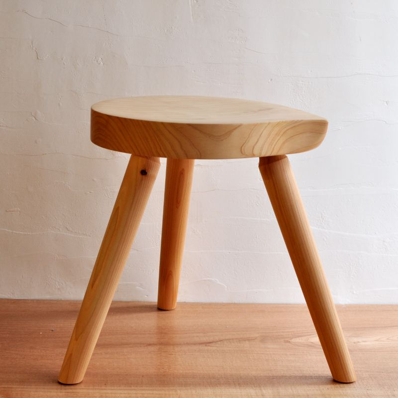 木製まるスツール ヒノキ