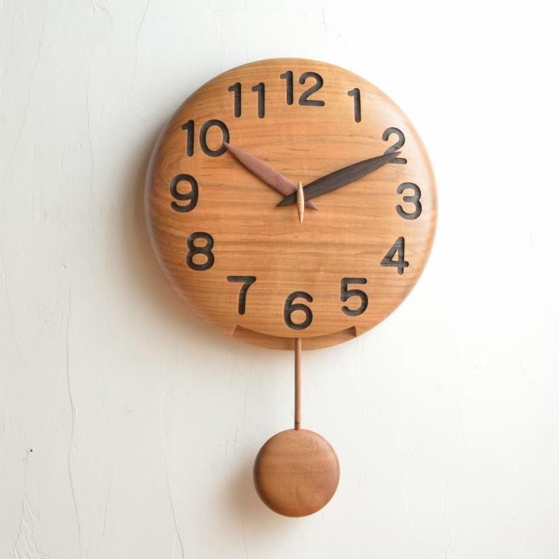 直径30cm手作り振り子時計 カスタムオーダーメイド