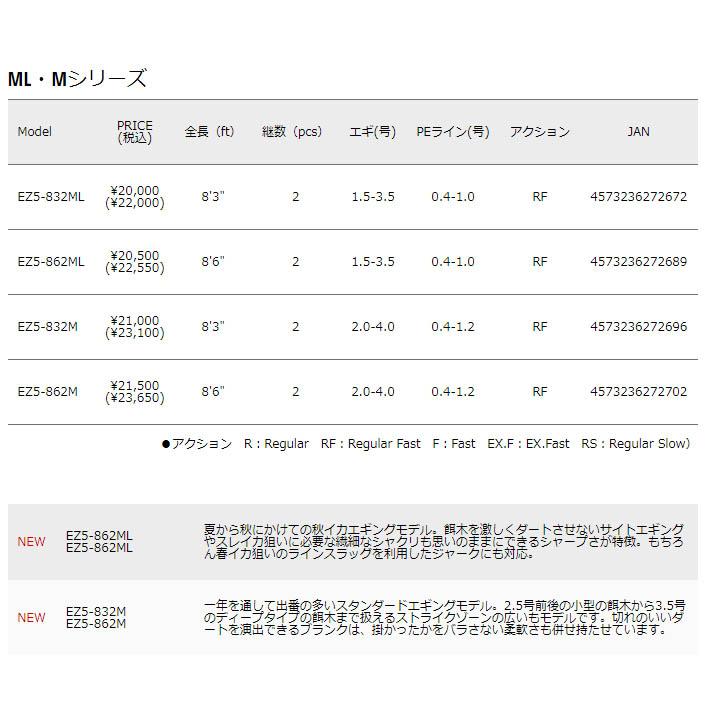 メジャークラフト エギゾースト5G EZ5-832M