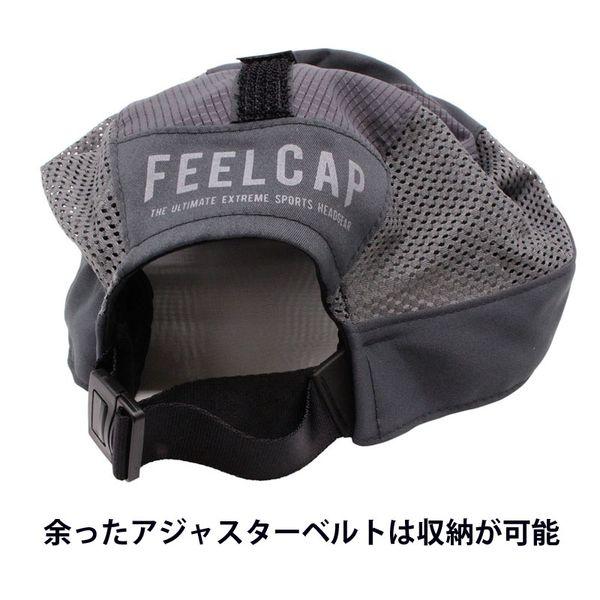 日本製 FEELCAP フィールキャップ 帽子 マラソン トレイルランニングキャップ X-WIND AND SHADE CAP ブラック