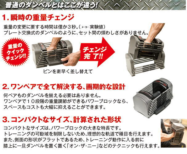 PowerBlock パワーブロック スポーツ SportEXP SP EXP 2個セット 5-90ポンド 最大41kg/片方