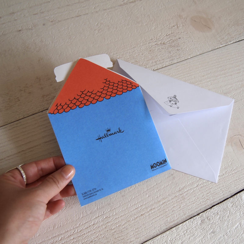グリーティングカード MOOMIN ムーミン 立体バースデーカード / ムーミンと家