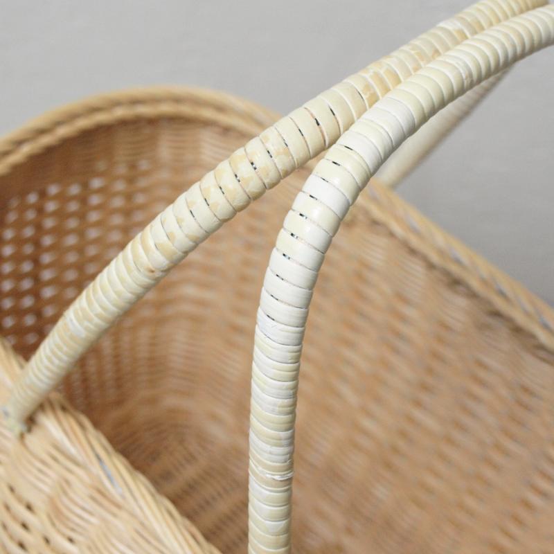 松野屋 籐買物かご