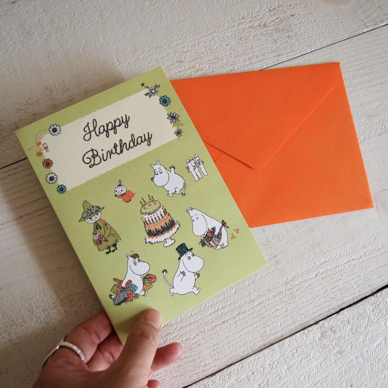 グリーティングカード MOOMIN ムーミン 立体バースデーカード / ムーミンとケーキ