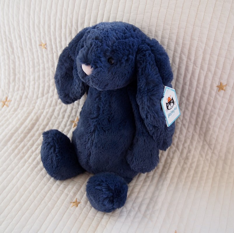 JELLYCAT Bashful Navy Bunny Medium(BAS3NB) うさぎ ぬいぐるみ ネイビー