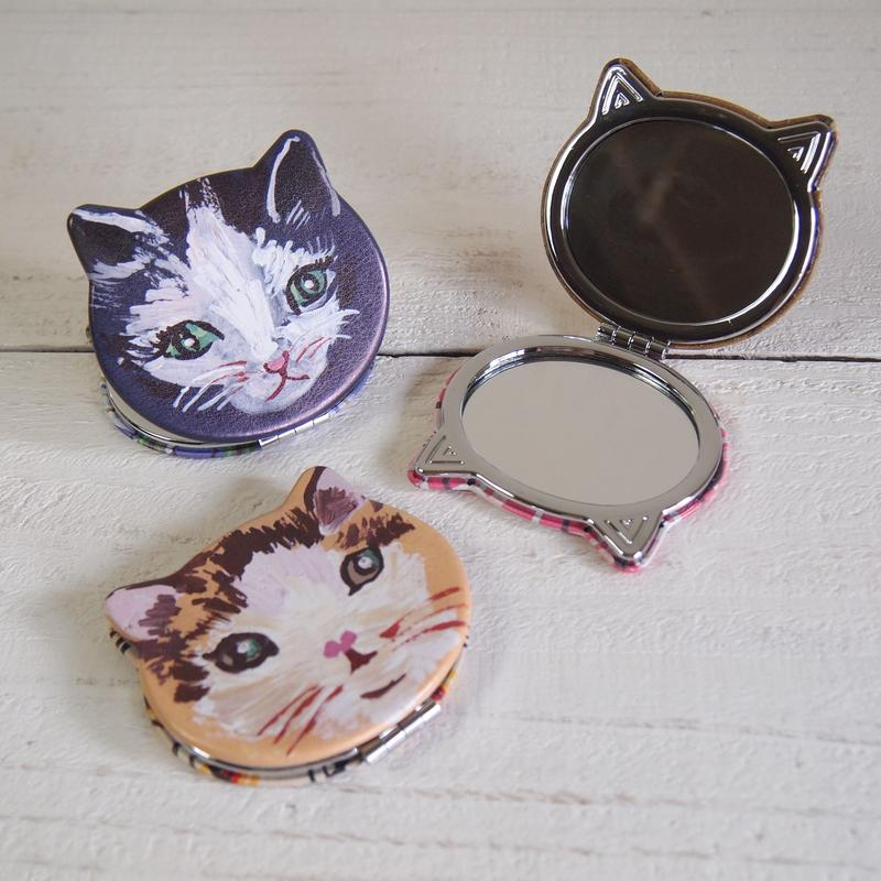 Nathalie Lete Compact Mirror ナタリー・レテ コンパクトミラー Cat