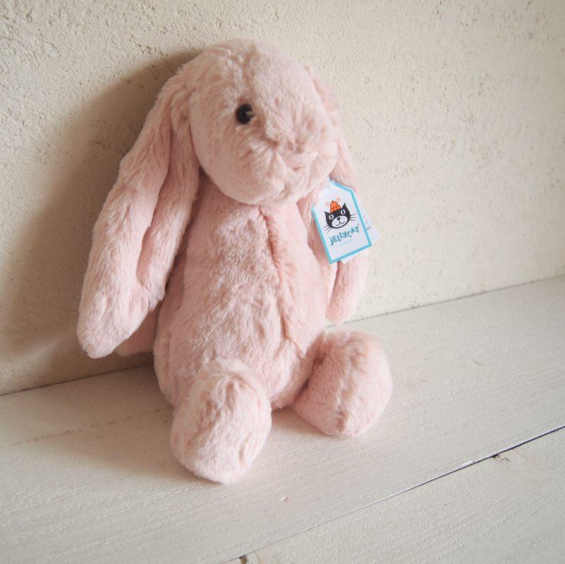 JELLYCAT I am Medium Bashful Blush Bunny(BAS3BLU) うさぎ ぬいぐるみ ピーチピンク