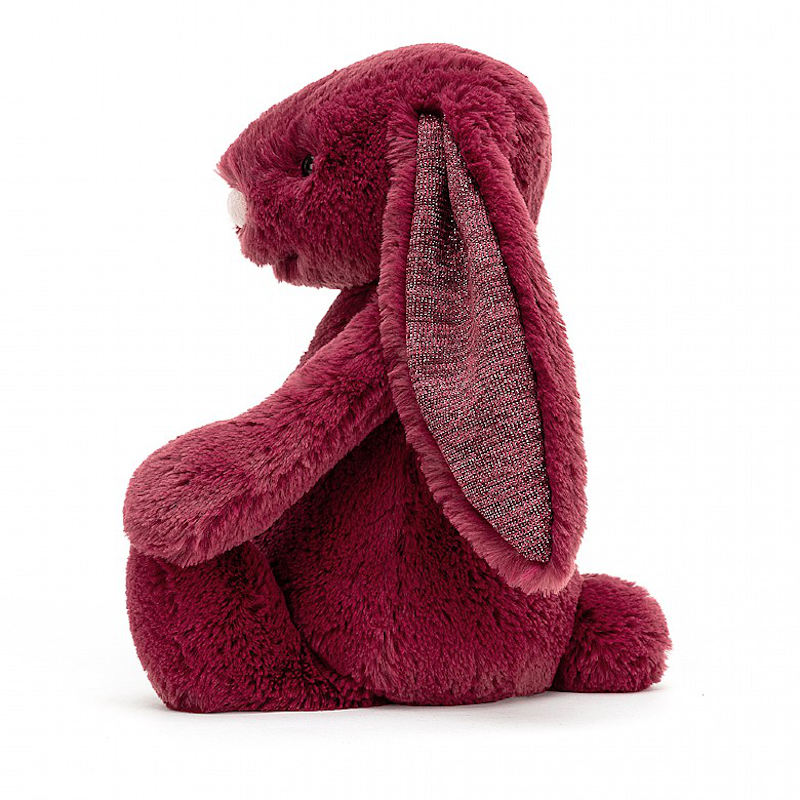 JELLYCAT Medium Bashful Sparkly Cassis Bunny(BAS3SCAS) うさぎ ぬいぐるみ スパークリーカシス