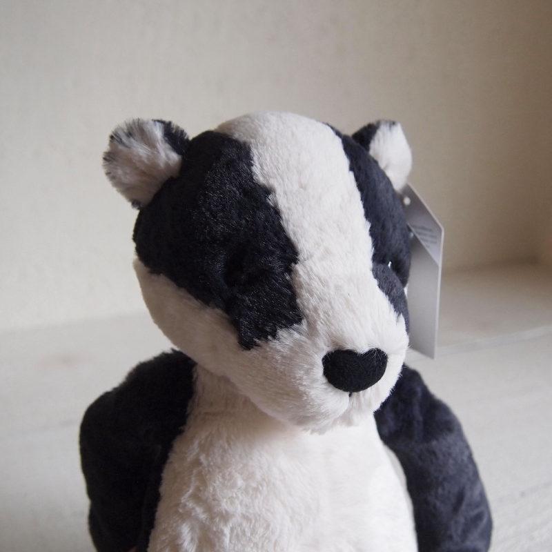 JELLYCAT Bashful Badger Medium(BAS3BAD) アナグマ ぬいぐるみ