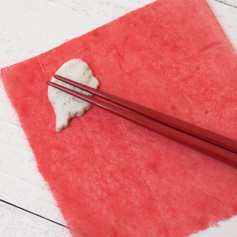 縁起物シリーズ 箸置き / 鯛・白