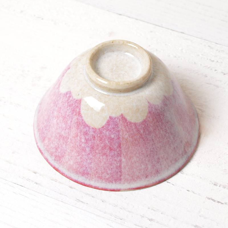 赤富士玉子茶碗