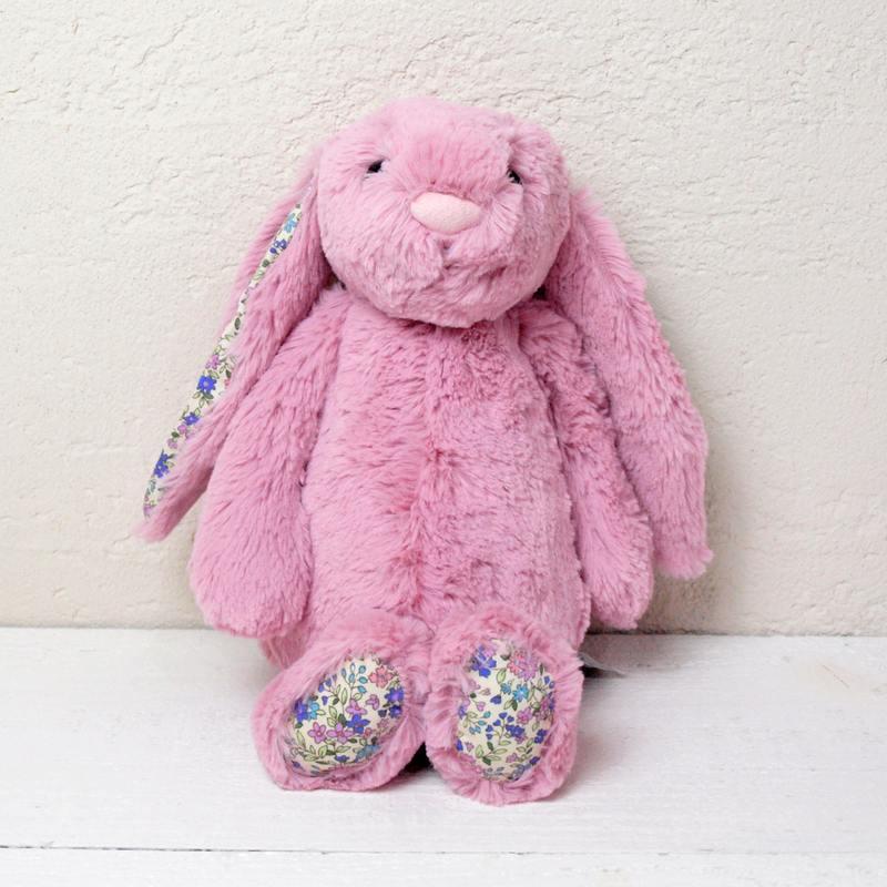 JELLYCAT Medium Blossom Tulip Pink Bunny(BLN3BTP) うさぎ ぬいぐるみ ピンク 花柄