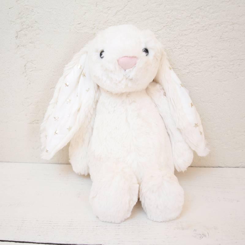 JELLYCAT Medium Bashful Twinkle Bunny(BAS3TW) うさぎ ぬいぐるみ トゥインクル スター