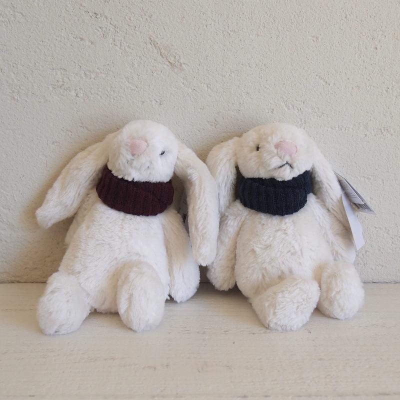 JELLYCAT Bashful Snug Bunny (BSNUG6B,BSNUG6T) マフラーうさぎ ぬいぐるみ