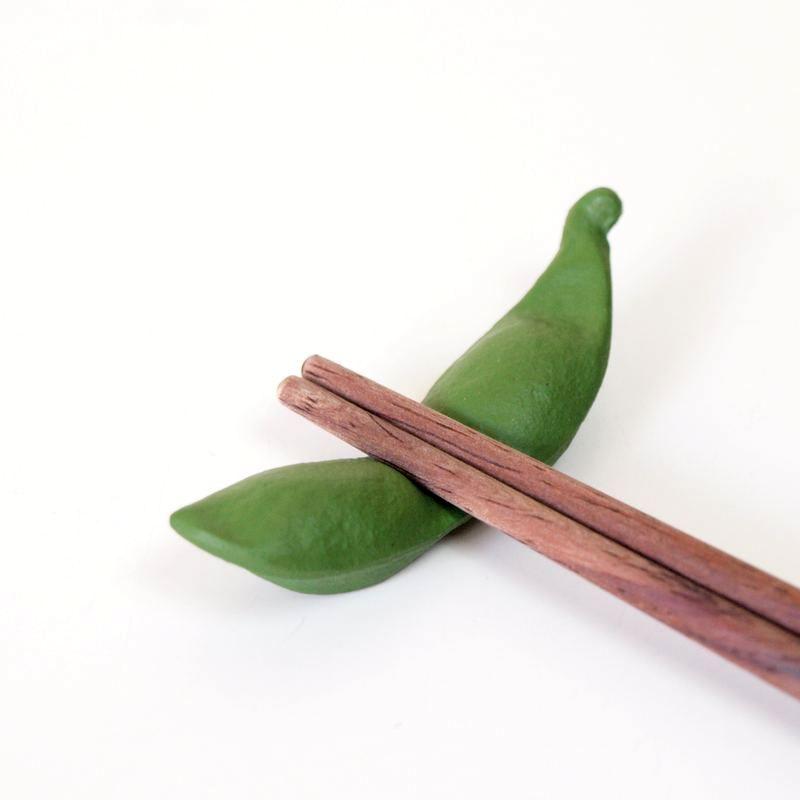 及源鋳造 南部鉄 箸置き 枝豆