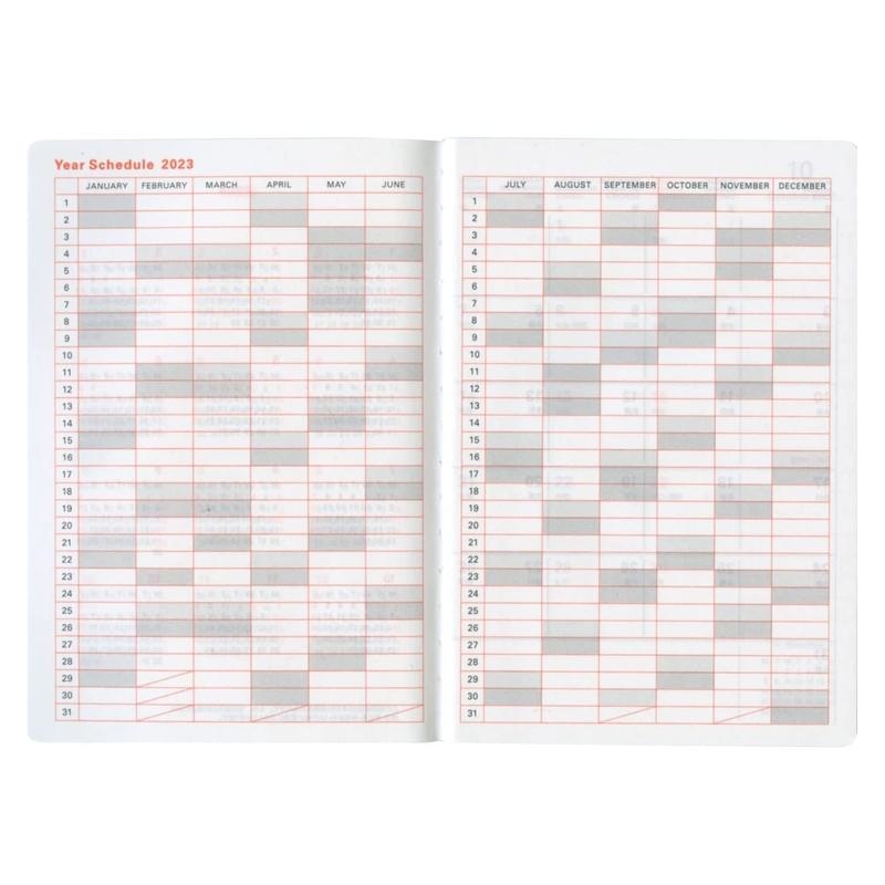 【2022年手帳・スケジュール帳 2021年10月始まり】 DELFONICS マンスリーダイアリー タイガー