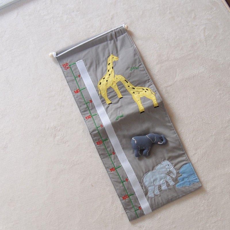 【Oskar & Ellen オスカー&エレン 】 布製身長計 / ワイルドアニマル