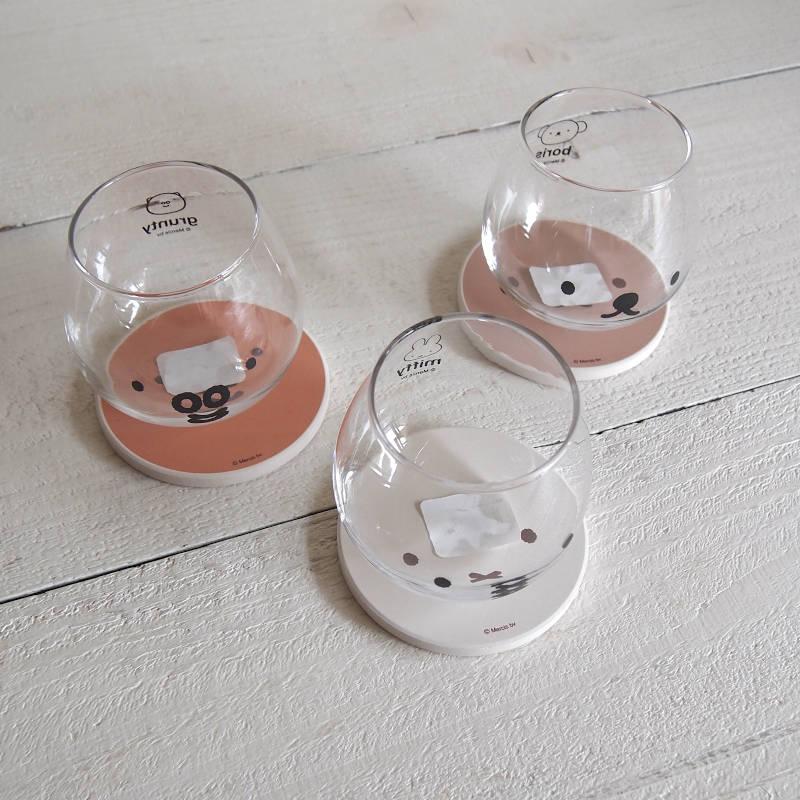 miffy ミッフィー 陶製吸水コースター (フェイス)