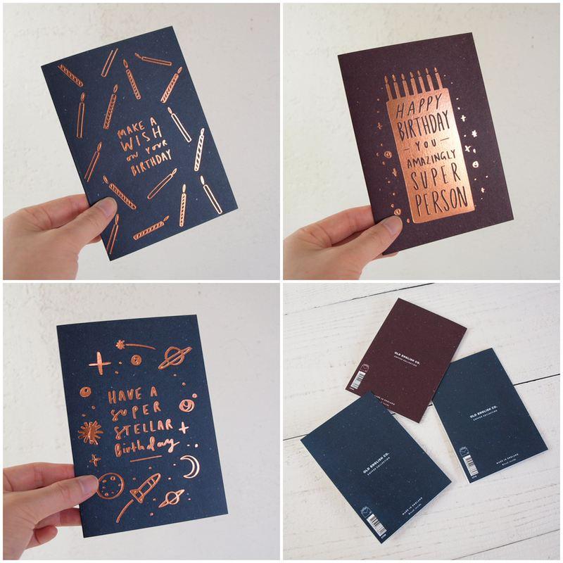 グリーティングカード 【OLD ENGLISH CO.】バースデーカード COPPER