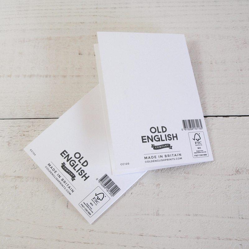 グリーティングカード 【OLD ENGLISH CO.】バースデーカード BLACKS & GOLDS