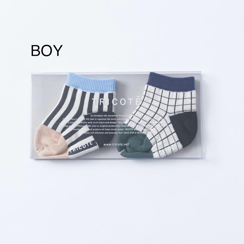 【TRICOTE】 トリコテ ベビーソックス / BABY SOCKS 2piece 9-10cm