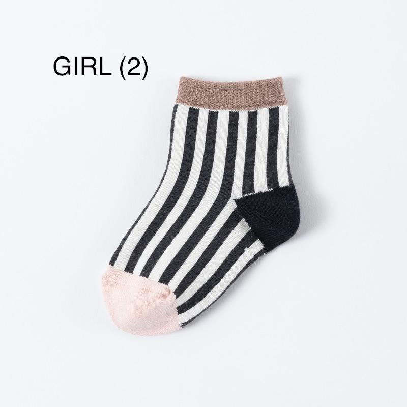 【TRICOTE】 トリコテ キッズソックス / CHECK STRIPE KIDS SOCKS 13-15cm