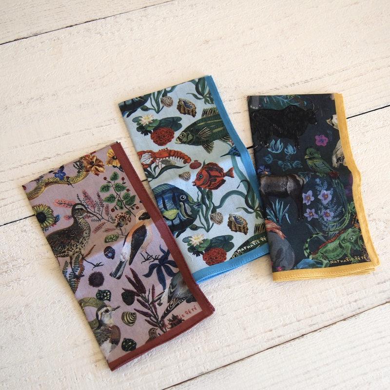 Nathalie Lete Handkerchief ナタリー・レテ ハンカチ part1 【ゆうパケット10枚まで1通で発送可】