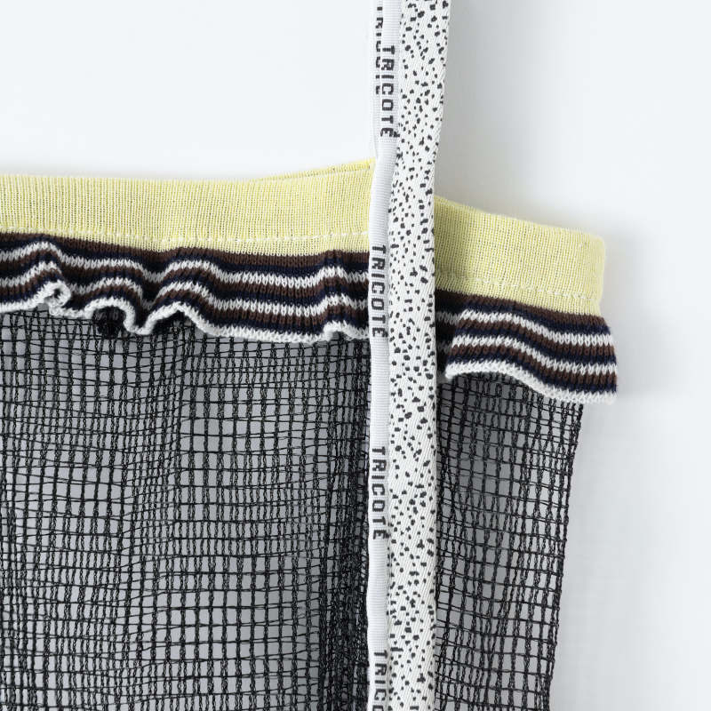 【TRICOTE】 トリコテ FRILL KNIT TOTE BAG SMALL