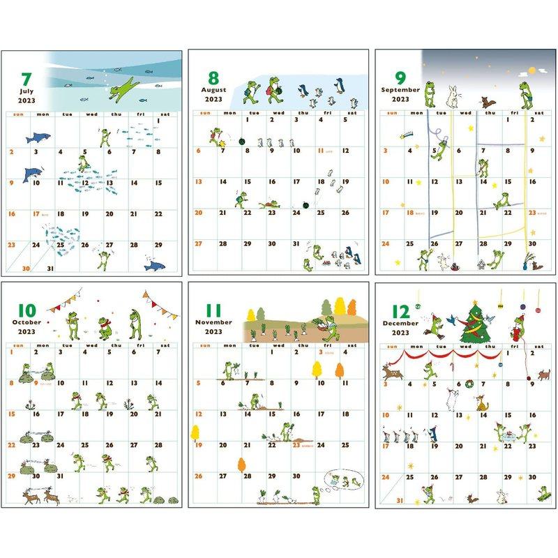 【2022年】 かえるの時間 卓上カレンダー