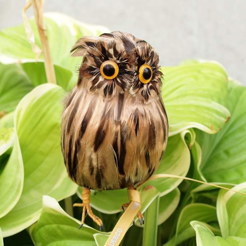PUEBCO Artificial Birds Owl Brown プエブコ アーティフィシャルバード フクロウ茶 Sサイズ