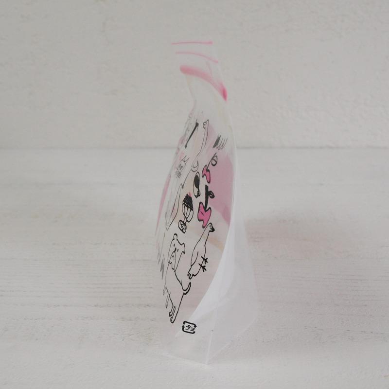 トラネコボンボン フリーザー バッグ Sサイズ Strawberry Cat