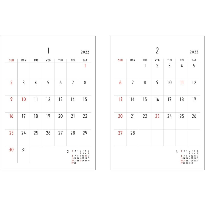 【2021年】 Noritake 壁掛けカレンダー