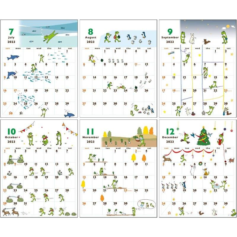 【2022年】 かえるの時間 壁掛けカレンダー