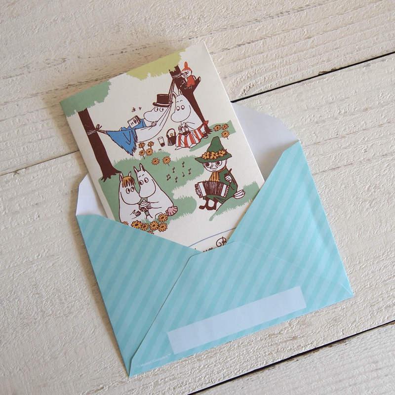 グリーティングカード MOOMIN ムーミン オルゴールバースデーカード / みんなでお祝い