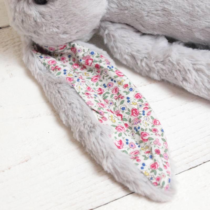 JELLYCAT Medium Blossom Silver Bunny(BL3BSN) うさぎ ぬいぐるみ シルバー 花柄