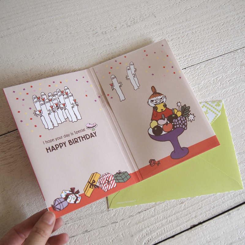 グリーティングカード MOOMIN ムーミン 誕生お祝いオルゴールカード / プレゼントとミイ